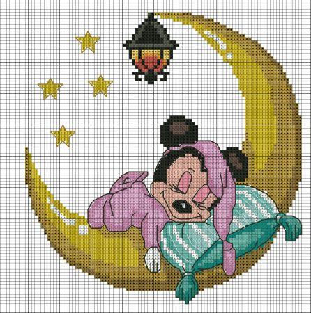 minie dormindo lua