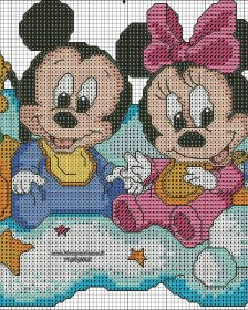 Donald Minie Pluto Mickey sentados nuvem