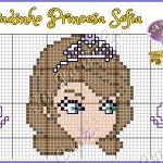 Princesa Sofia Pequeno em Ponto Cruz 7