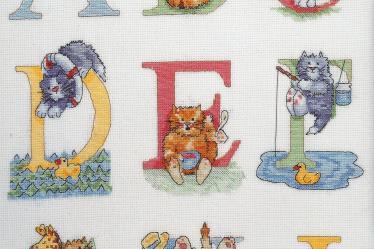 Alfabeto Gatos DMC marmalade cats 2