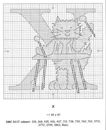 Alfabeto Gatos DMC marmalade cats 26