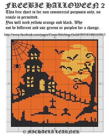 Halloween em ponto cruz 10