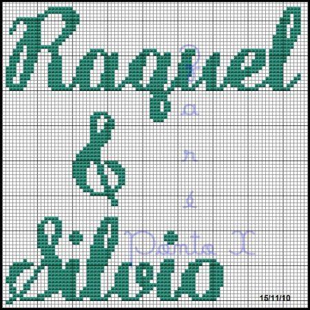 Raquel e Sivio BordadoPontoCruz 01