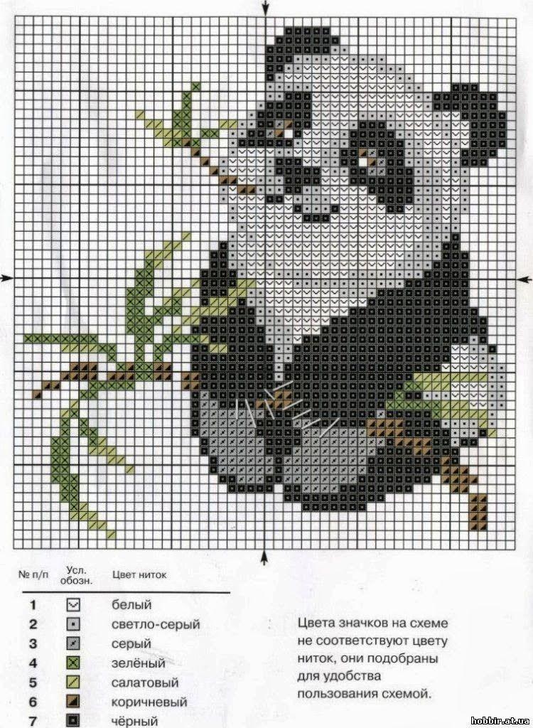 Urso Ursinho Panda BordadoPontoCruz 003