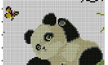 Urso Ursinho Panda BordadoPontoCruz 004
