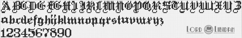 Monograma Alfabeto Pequenos BordadoPontoCruz com 53
