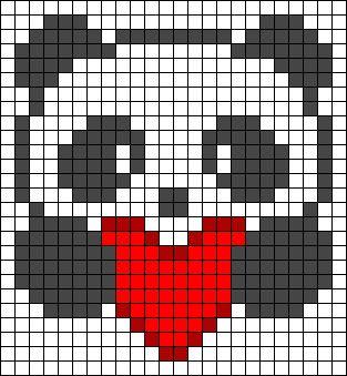 Urso Ursinho Panda BordadoPontoCruz 020