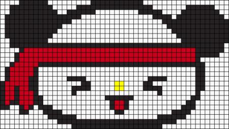 Urso Ursinho Panda BordadoPontoCruz 038