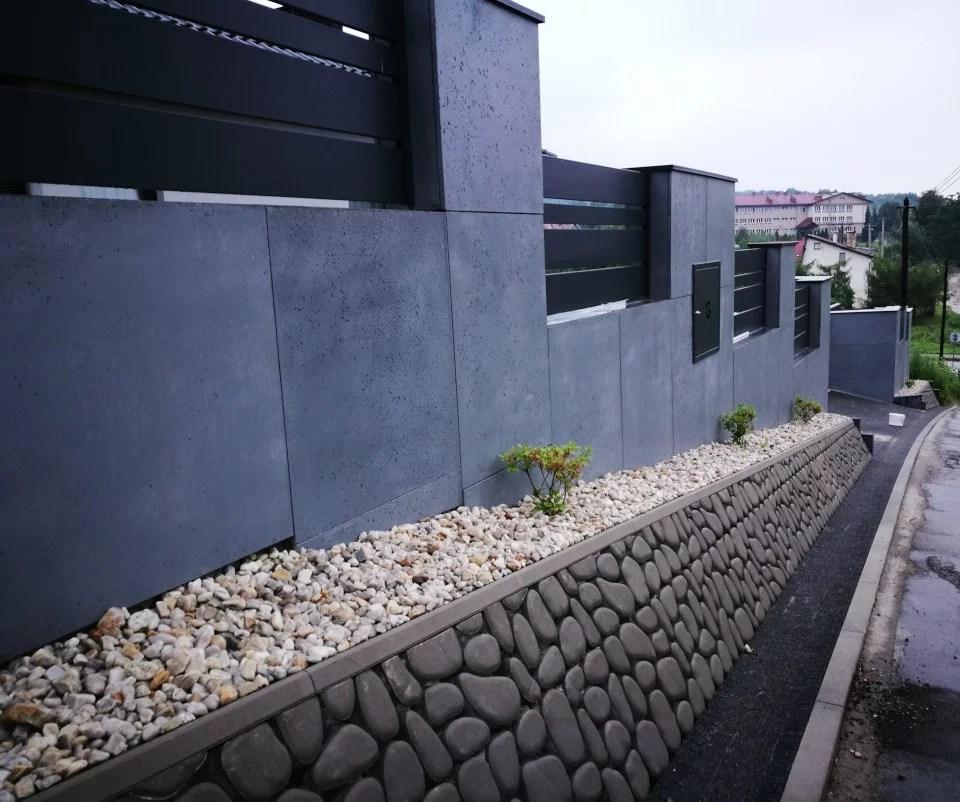 ogrodzenie murowane ogrodzenia border ogrodzenia aluminiowe alugate beton architektoniczny rfid videodomofon 1a