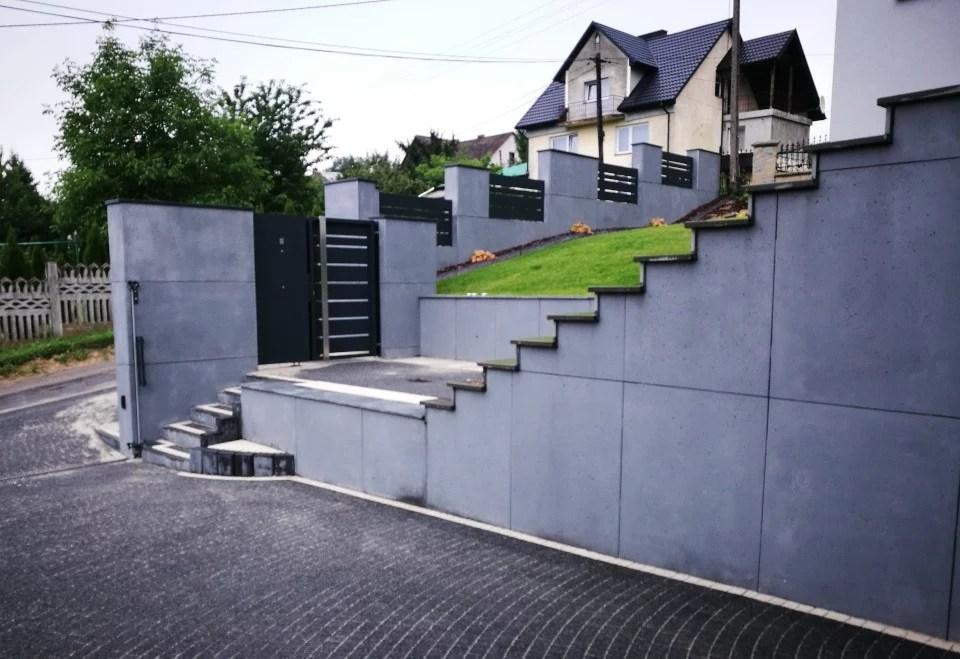 ogrodzenie murowane ogrodzenia border ogrodzenia aluminiowe alugate beton architektoniczny rfid videodomofon 5