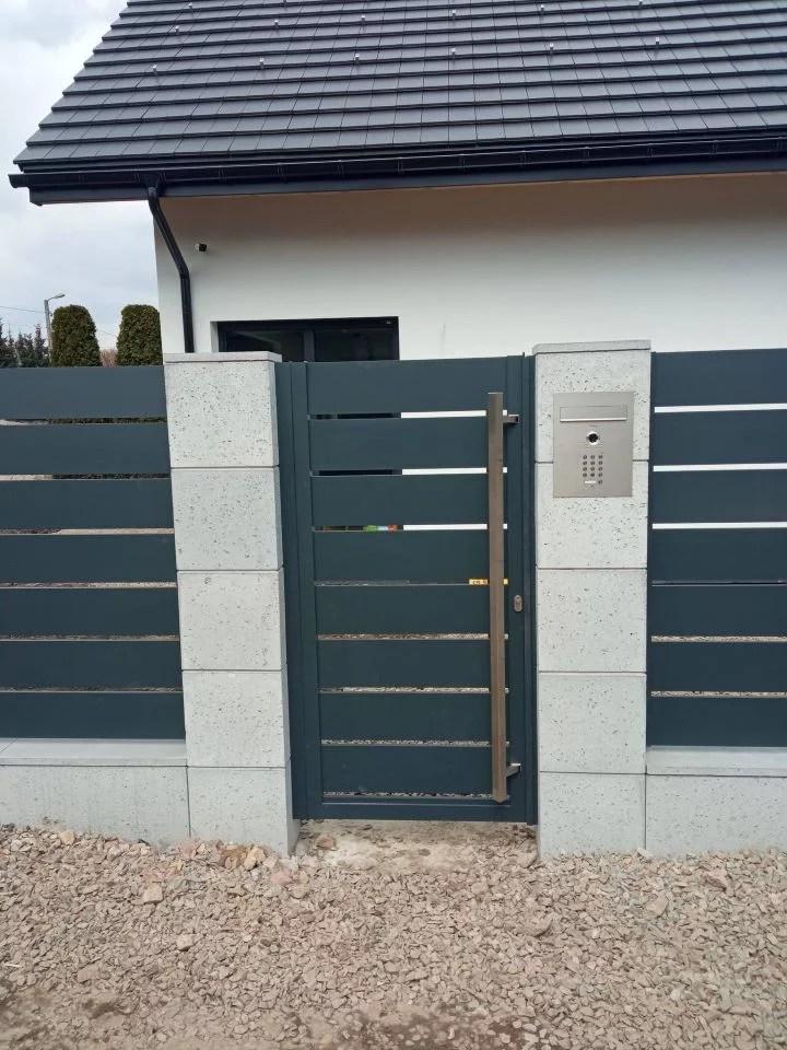 ogrodzenie aluminiowe marki ALUgate AG200 - BORDER 12