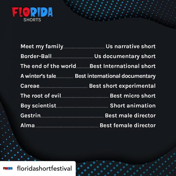 Joel Tauber's film Border-Ball wins Best US Documentary Short at the Summer 2021 Florida Shorts film festival.