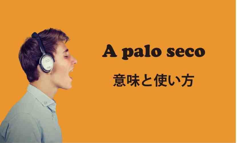 A palo seco ブログ 表紙