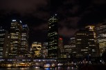 Night time at the harbour with the lights from the buildings reminds you that this is the biggest city in Australia.