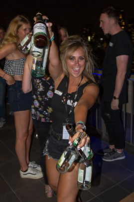 It wasnt all work and no play for the Bounce staff either. Collecting bottles couldn't stop Gemma from busting a move.