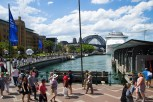 The promenade around Circular Quay is a popular place just for wandering. With its many bars alongside the warfs make it a great place to watch the world go by.