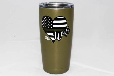 GREEN LINE WIFE TUMBLER-OD - Glassware