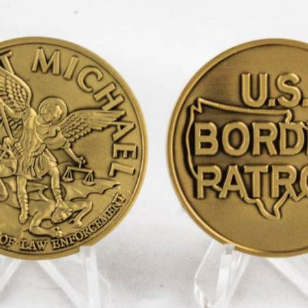ST. MICHAEL-BRUSHED GOLD - Coins