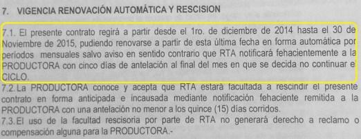 La cláusula de renovación automática