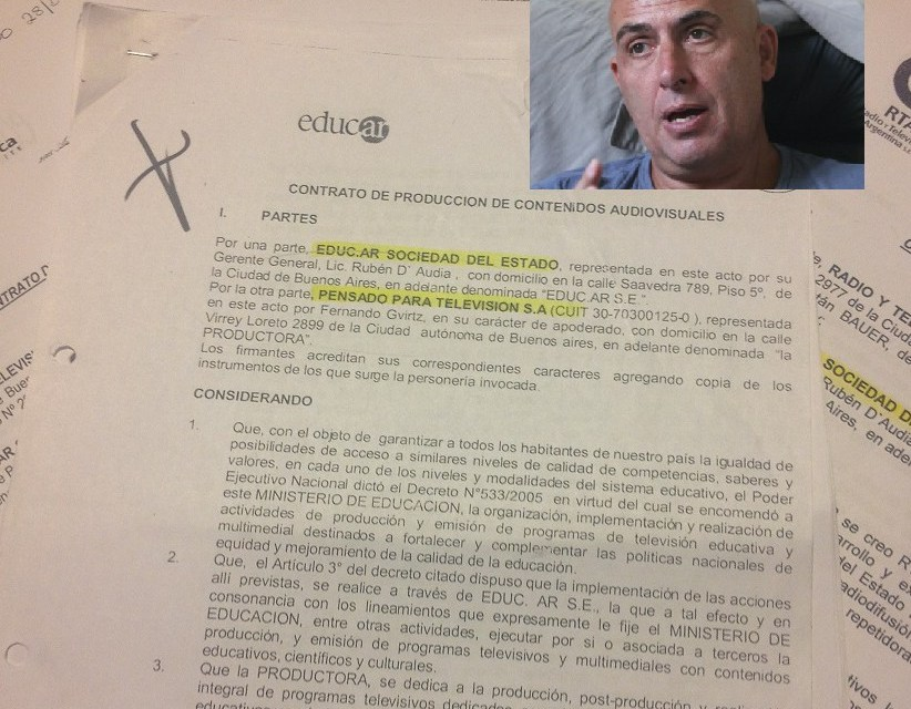 Contratos del 7 – Parte 2: Los otros 35 millones de pesos que Gvirtz facturó por el fútbol