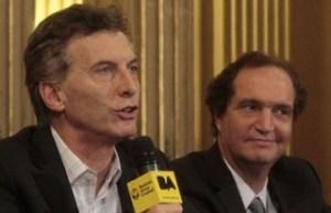 Macri con Pablo Clusellas, el secretario legal que le presentó en la juventud a Arribas.