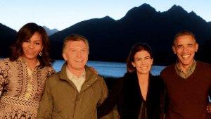 Los Macri y los Obama, en la Patagonia.