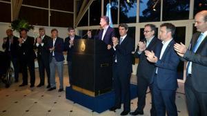 Macri, en reunión con empresarios en la Quinta de Olivos.