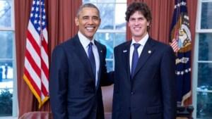 El embajador argentino en EEUU con Obama.
