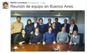 Lousteau difundió en Twitter su última reunión en Buenos Aires.