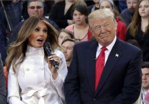 Trump y su tercera esposa, la enigmática Melania.