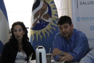 La ministra Rocío García de Kirchner y Marcelo Bersanelli, su cuñado.