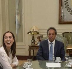 La gobernadora Vidal y el ex Scioli. Tendencias a la baja.