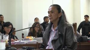 Milagro Sala, en juicio.