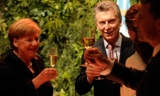 Macri le garantizó a Merkel un plan verde que aísla a Trump