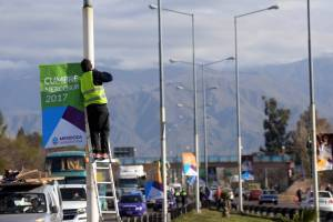 Preparativos en Mendoza.