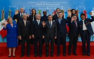 La foto protocolar de la cumbre, en Mendoza.