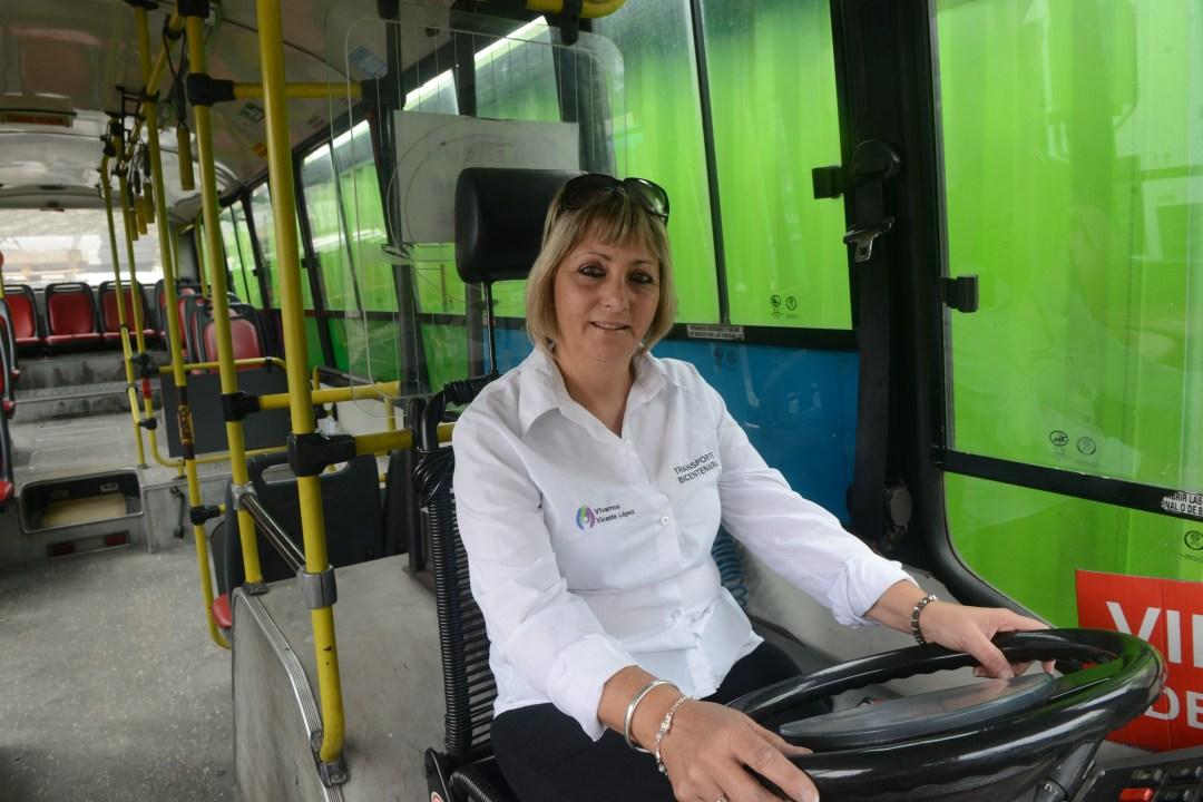 Graciela trabaja en un línea de Vicente López. Su familia se reía cuando les contó su idea.