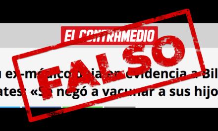Chequeado.com: Es falso que Bill Gates no vacunó a sus hijos cuando eran niños