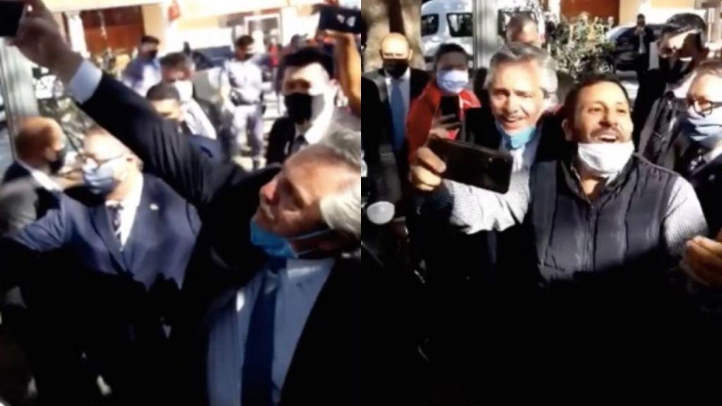Alberto Fernández, en Catamarca: 'selfies' entre multitudes y sin la debida protección