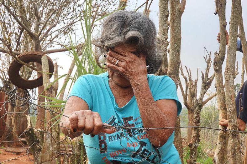 La abuela de la víctima, Rafaela Palacios, tiene la custodia de sus tres hermanos. Fuente: El Territorio