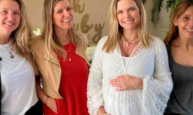 Sofía Zámolo celebró un baby shower con amigas y fue criticada en redes