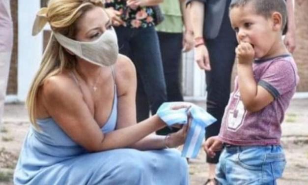 Fabiola Yañez generó polémica por su visita a Chaco con vestido de fiesta
