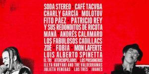 """Uno de los afiches de """"Rompan todo"""", la miniserie de Netflix que narra la historia del rock latinoamericano desde los años '50"""