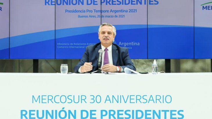 Cumbre del Mercosur: tenso cruce entre Alberto Fernández y Luis Lacalle Pou por la flexibilización del bloque
