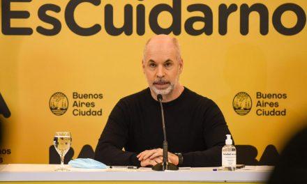 Rodríguez Larreta anunció las nuevas medidas en CABA