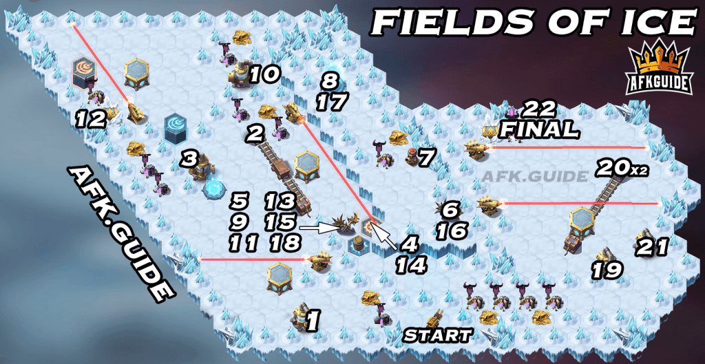 Fields of Ice voyage of wonders guide map