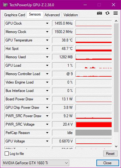 GPU-Z VRAM used