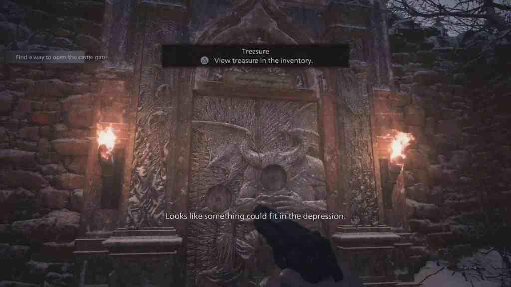 dimitrescu castle gate puzzle maiden crest demon crest resident evill village