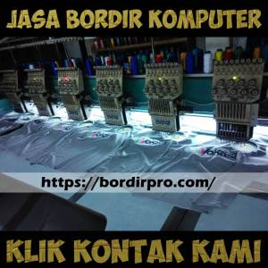 Video Proses Bordir Komputer Membuat Tulisan dan Logo
