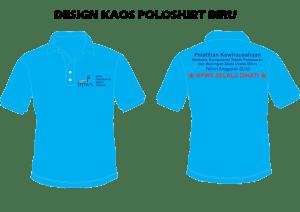 desain kaos polo shirt kantor,desain kaos polo kerja, desain kaos polo biru